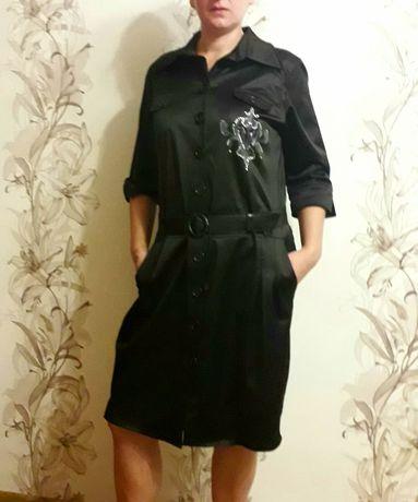 Платье женское атласное