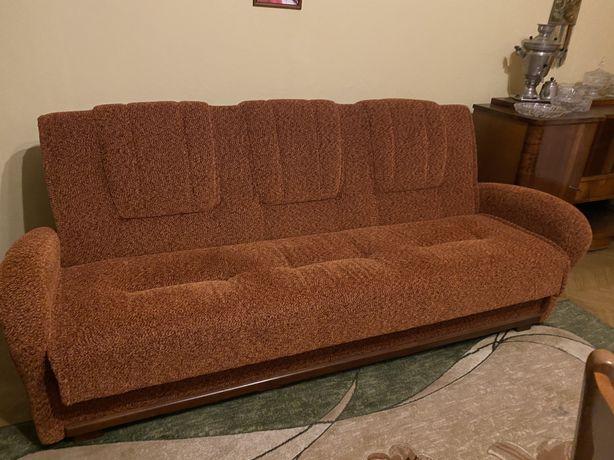 Niezniszczalnny Komplet  PRL Wersalka , 2 fotele + Lawa + 4 krzesla