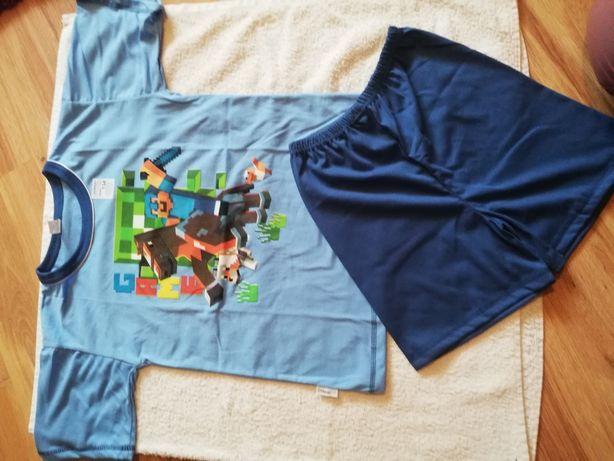 Piżama Minecraft r 158 krótki rękaw