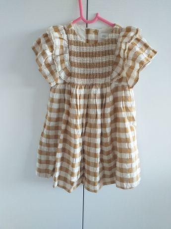 ZARA sukieneczka w kratkę 104