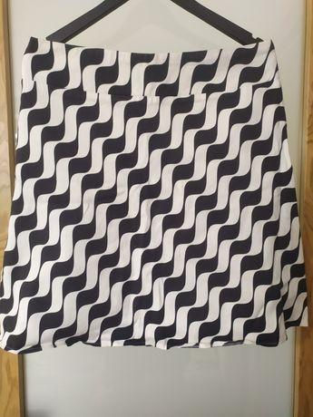 Spódnica Etam 42 biało czarna