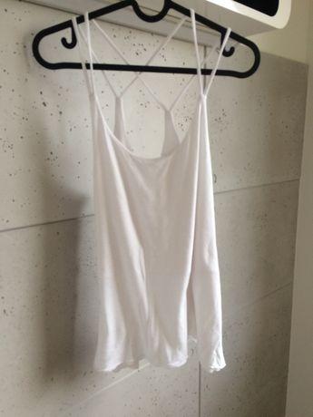 MANGO bluzka biała na ramiączkach