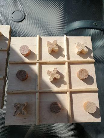 Gra drewniana kółko krzyżyk dla dzieci ślub wesele
