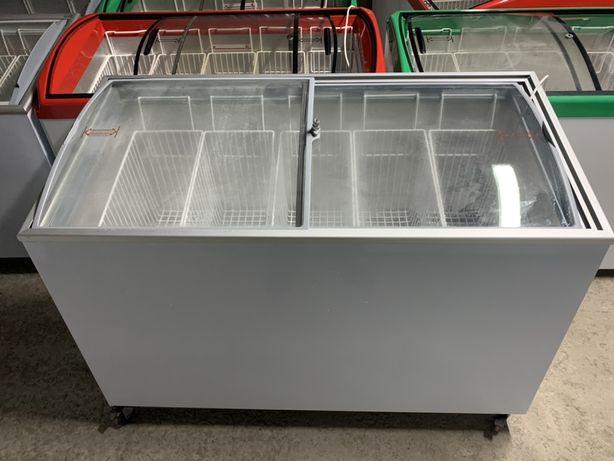 Морозильна камера ларь скриня під скло холодильник вітрина