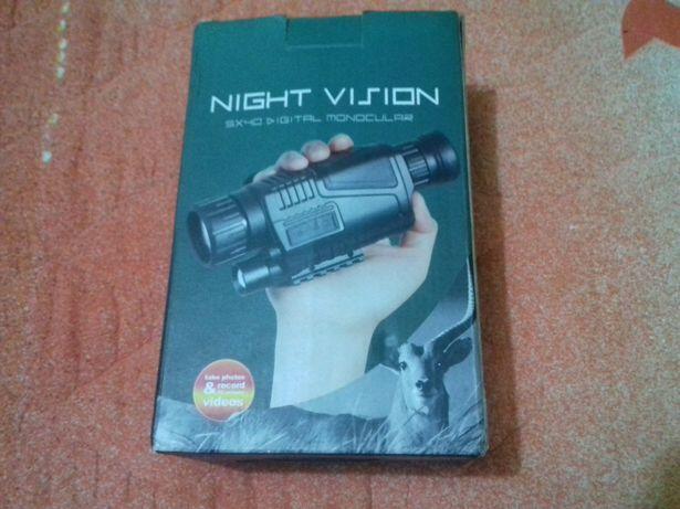 Filmagem de caça noturna.