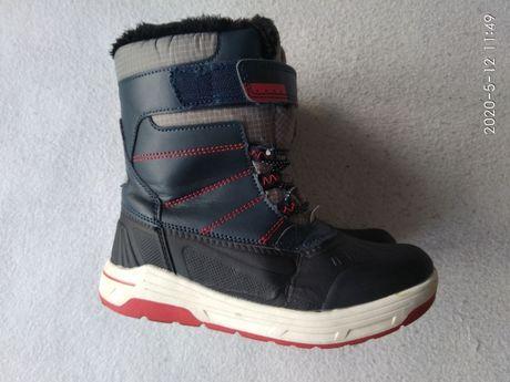 Buty zimowe, kozaki, śniegowce chłopięce roz. 32 jak nowe