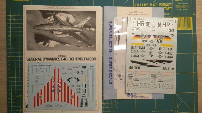 Декали для модели самолета F-16 1/48