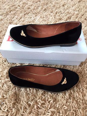 Туфли балетки чёрные на девочку, туфлі балетки на дівчинку 36 розмір