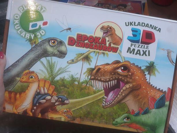 Puzzle Dinozaury maxi 60 szt