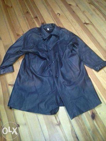 Płaszcz skórzany czarny damski