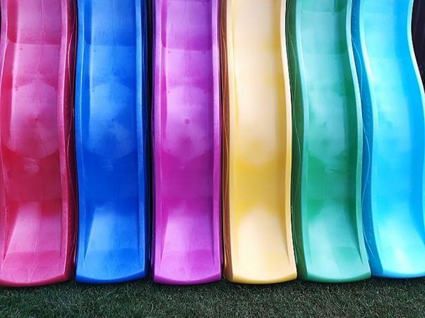Ślizg 2,5M 3M ślizgawka zjeżdżalnia KBT domek huśtawka kolory dostawa