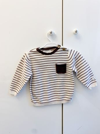 Sweter sweterek newbie w paski 74