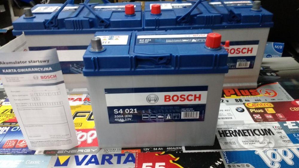 Akumulator Bosch S4021 12V 45Ah 330A B32 P+ dowóz montaż Kraków Azory Kraków - image 1