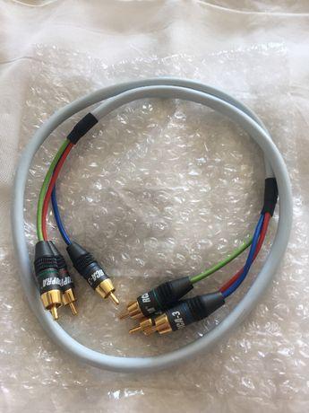Kabel Supra Component RGB AV-3, 3 RCA-3 RCA