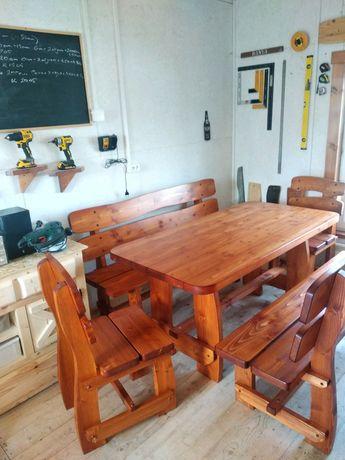 Комплект деревянной мебели.,стол+лавки,стулья. Доставка по Украине.