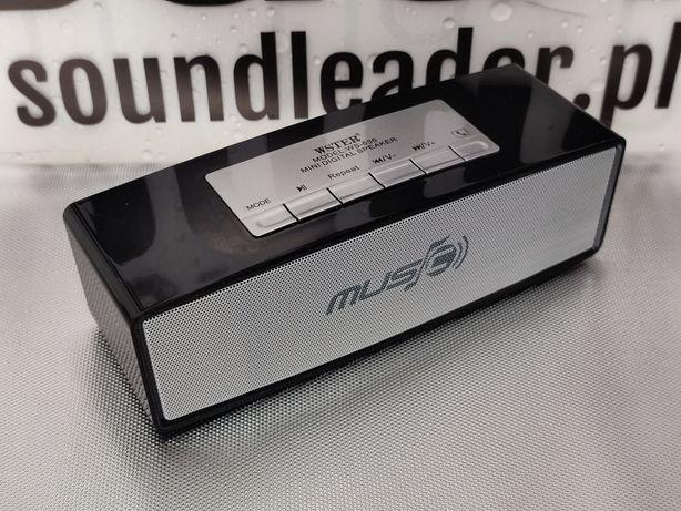 Głośnik bluetooth radio odtwarzacz MP3 zestaw głośnomówiący czarny