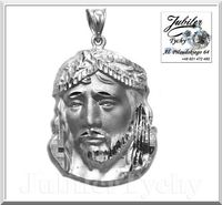 Srebrny medalik Głowa Jezusa Chrystusa Srebro Jesus Christ Ag692 Jezus