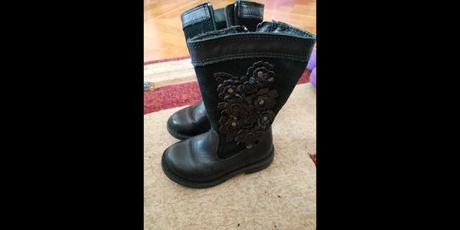 Ботинки ботінки 21 M&S шкіряні кожаные черные