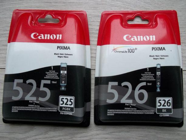 Tusz do drukarki Canon 526BK i 525PGBK nowe.