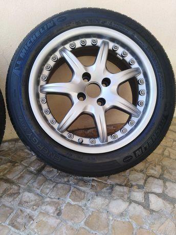 Jantes Alessio 4*100 7j R16 com pneus
