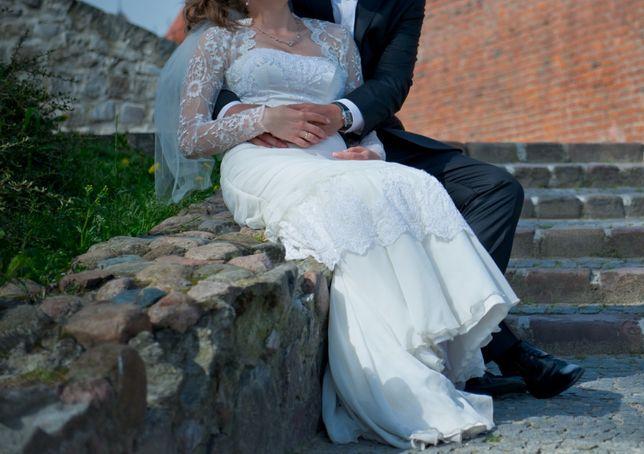Suknia ślubna XS/S dla szczupłej i niewysokiej