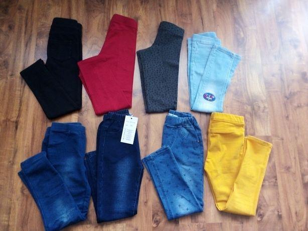 Spodnie i tregginsy 116 i 122. Zwykłe i H&M.