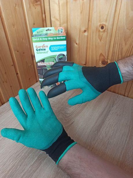 Перчатки садовые с когтями рукавицы для сада и огорода