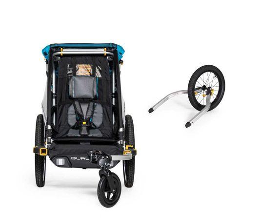 od ręki przyczepka rowerowa Burley D'Lite X Single z zestawie jogging