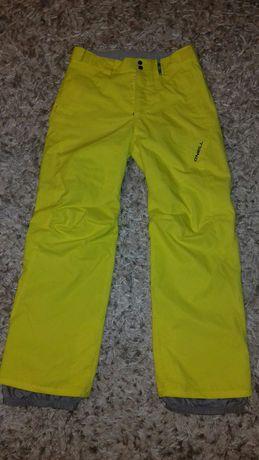 Spodnie narciarskie snowbordowe O'neill rozm. M/L membrana 8000 żółte