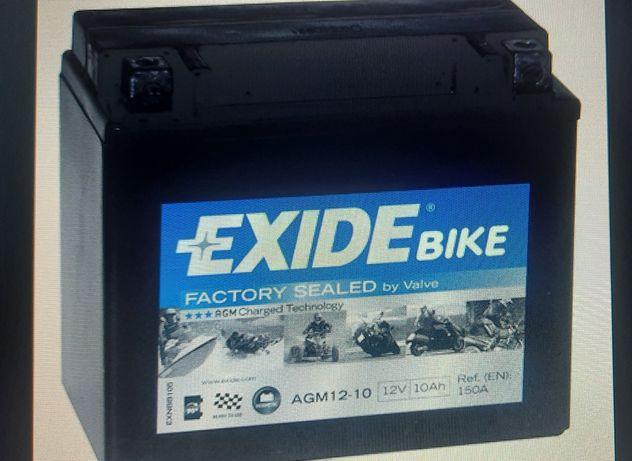 Akumulator exide AGM 12-10 12ah 150a motocykl