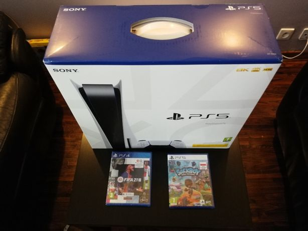 Konsola PS5 z napędem NOWA + GRY