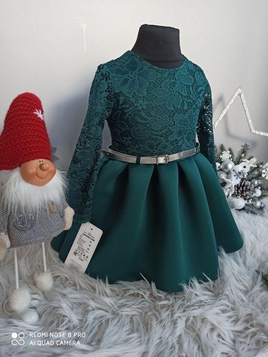 Sukienka świąteczna z koronką92,98,104,110,116,122,128,134,140,146,152 Jarocin - image 1