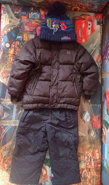 Куртка зимняя, полукомбинезон+ шапка на рост 98-104
