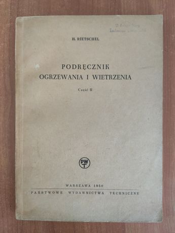 Podręcznik ogrzewania i wietrzenia Rietschel 1950