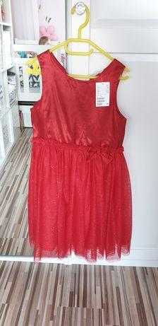 Sukienka z tiulem na święta H&M/ Sukienka świąteczna z brokatem
