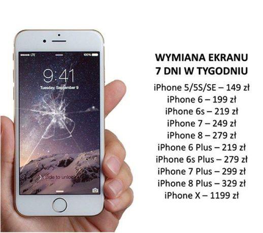 Promocja! Wymiana Szybki iPhone - Wyświetlacza iPhone 6 6S 7 8 X PLUS