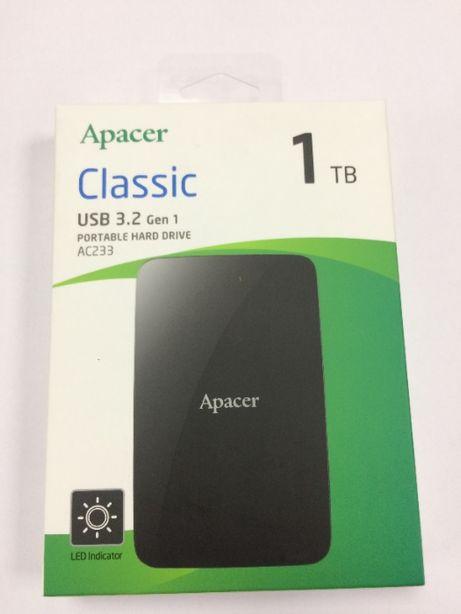 """Жорсткий диск зовн. APACER 2.5"""" USB 3.2 AC233 1TB Black (AP1TBAC233B-S"""