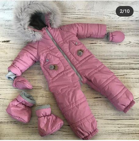 Зимний комбенизон для девочки