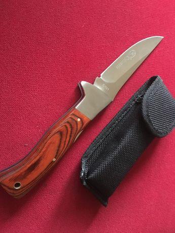 Nóż myśliwskiwędkarski klasycznie składany Columbia etui drewno