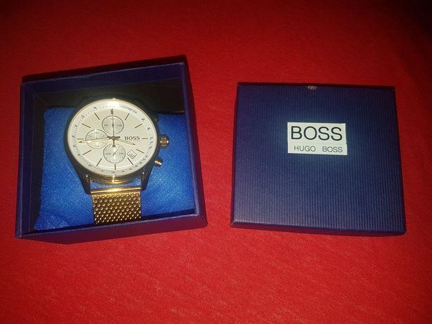 Złoty zegarek Hugo Boss NOWY pudełko prezent