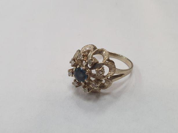 Piękny złoty pierścionek damski/ 585/ 4.9 gram/ Białe/ R13/ Cyrkonie