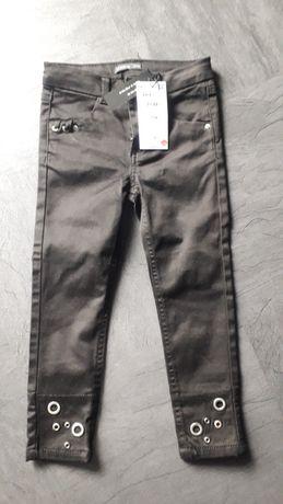 Czarne spodnie rurki Reserved r.104