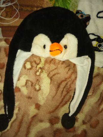 Шапка пингвин детская