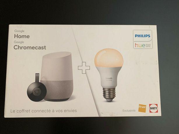 (Bundle) Google Home + Google Chromecast + 3x Philips Hue