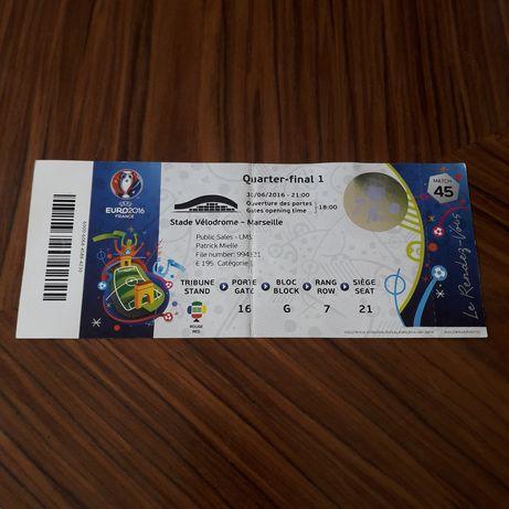 Bilhete Euro 2016 Portugal Polónia