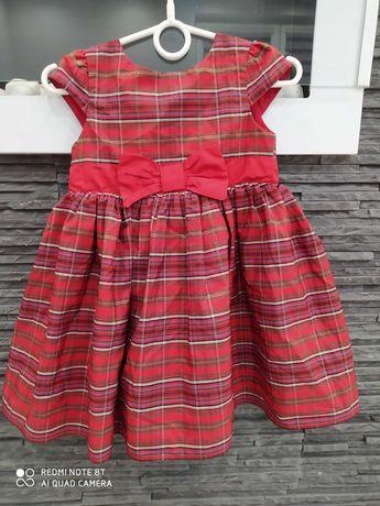 Sukienka w kratę na Swięta r. 92 cm