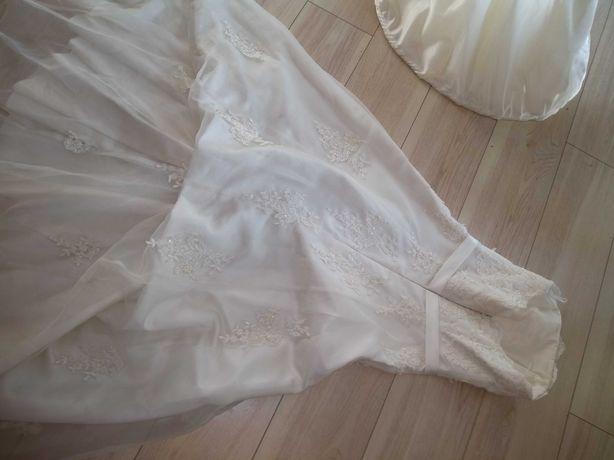 Suknia ślubna sukienka ecru 36 S M na kole koło -99%
