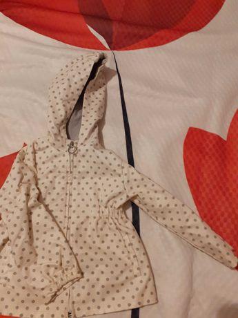 Śliczna kurteczka ZARA płaszczyk wiosna 98 dla 2-3 letniej dziewczynki