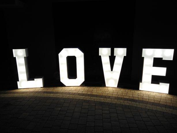 Napis LOVE wesele, wesela, sesja, zaręczyny, oświadczyny - wynajem