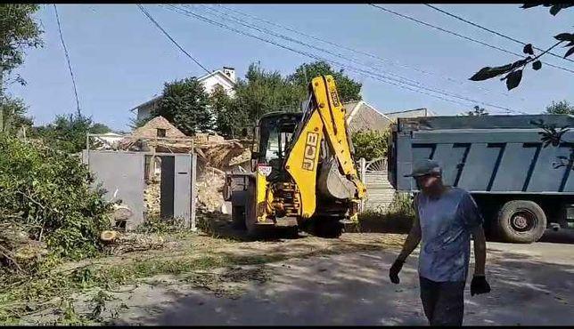 Демонтаж/Снос домов, старых построек,дач.